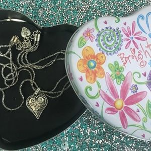Brighton Heart Necklace & Collectable Metal Case